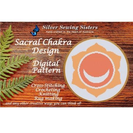 Sacral Chakra Pattern~ Cross Stitching, Knitting, Crocheting, Rug Making SE40002