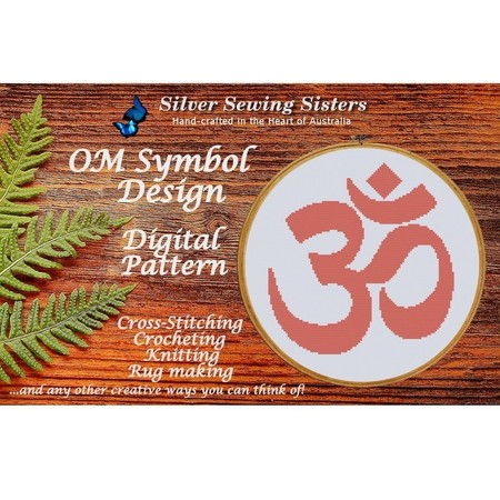 OM Symbol Pattern ~ Cross Stitching, Knitting, Crocheting, Rug Making SE40012