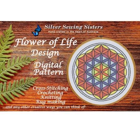 Flower Of Life Pattern~Cross Stitching, Knitting, Crocheting, Rug Making SE40016