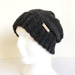 Foldable double brim wool beanie