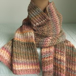 Woman's Wrap/Scarf, 100% Alpaca, Lace, Autumn Colours