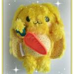 Yellow Long-earred Bunny, Handcrafted Rabbit, Gift Idea Bunny