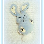 Blue Bunny, Handcrafted Rabbit, Gift Idea Bunny, Gift, Special Occasion