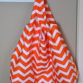 Fabric Market Bag - Orange Chevrons