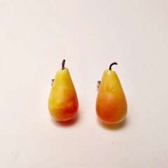 Pear (large) studs - pear studs - pear earrings - fruit earrings - food studs