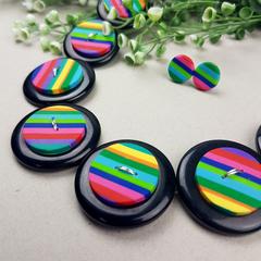 Rainbow Stripes Necklace - Jewellery - Earrings