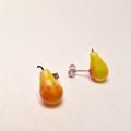 Pear (large) studs - pear studs - pear earrings - fruit earrings - food studs