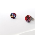 Round circle laser cut acrylic studs - rainbow studs