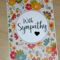 With Sympathy condolence card - spring flowers