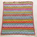 Baby Blanket, Cot Blanket, Multi coloured ripples.