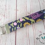 Garden Gnome Key Fob Wrist Strap, Floral Lanyard Key Holder