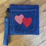 Upcycled Denim Wristlet