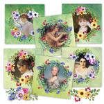 Art Ladies Floral Wreaths Printable