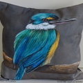 Cushion Cover, Sacred Kingfisher,  Australian Bird, Wildlife, Throw Pillow,
