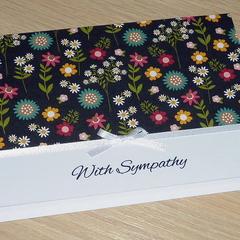 With Sympathy condolence card - floral design
