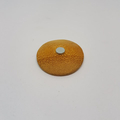Headline Series : Lydia Original Ink on Paper on Wooden Disc Brooch Magnet
