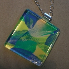 Shelley - painted pendant