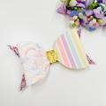 Rainbow Bow headband or clip