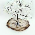 Opalite Gem Tree on Agate Slice