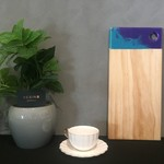 Resin8 Australia Riata Pine Board - Teal Blue and Bright Purple Resin