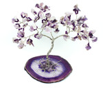 Amethyst Gem Tree on Agate Slice