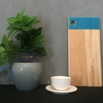 Resin8 Australia Riata Pine Board - Teal Blue Resin