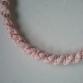 25cm Pink Macrame Knotted Heart