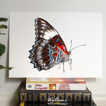 Red Lacewing butterfly print of watercolour painting A4
