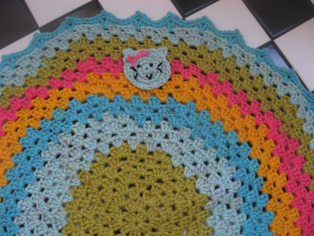 Crocheted Kitty Afghan