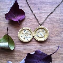 Intricate, exquisite watch part locket, steampunk necklace!