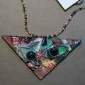 Pablo - Collage cat pendant
