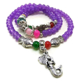 Bohemian Purple Wrap Bracelet with Mermaid and 