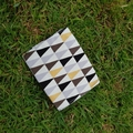 Coin purse, wallet in gold silver black white geometrical print