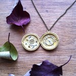 Intricate, exquisite watch part locket, steampunk necklace!