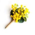 Australian Golden Wattle Buttonhole for Groom or Groomsman - Aussie Wedding