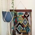 Fabric modernist wall hanging-Gabbeh