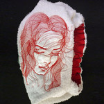 Ladies After Shower Towel Cap - Romance 2 RED