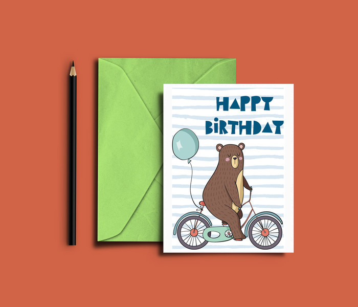Printable Birthday Card Digital Download Happy Birthday Lille