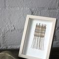Golden Rays - Hand Woven Framed Art