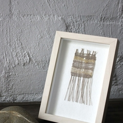 Golden Rays - Hand Woven Framed Art