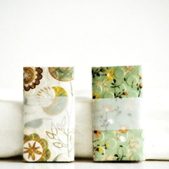 Mini Envelopes {5 w cards + seals} Spring | Embossed Mini Envelopes | Notesets