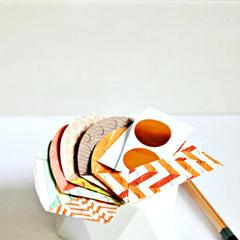 Mini Envelopes {5 w cards + seals} Autumn | Embossed Mini Envelopes | Notesets