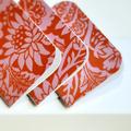 Mini Blank Books {3} Red Orange Floral   Mini Notebooks   Little Pink Books