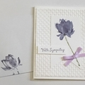 Purple flower Sympathy  Card