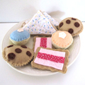 Felt Play Food Cookie, Biscuits and Sweets, Pretend Food