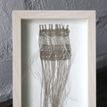 Moon Beams - Hand Woven Framed Art