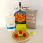 Quiet Book, Busy book, Felt Play Food, Interactive Book, Pancakes