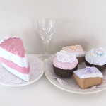 Play Food, High Tea Set, Felt Pretend Food, Felt Cakes
