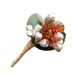 Buttonhole for Groom or Groomsman - Australian Native Flowers, Eucalyptus Gumnut