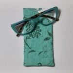 Green Floral Fabric Glasses/Sunnies Case